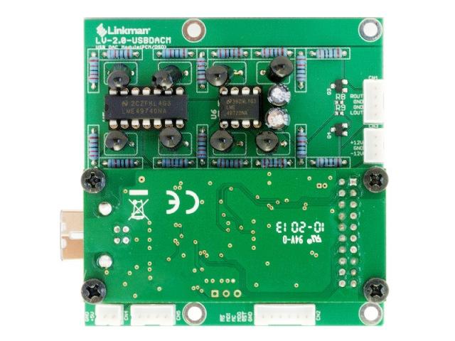 USB-DAC基板 真上